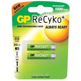 Батарейку, аккумулятор (AA/AAA/C/D) GP Batteries AAA 850mAh NiMh 2шт ReCyko+ (85AAAHCB)