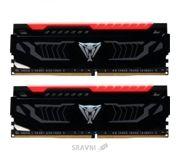 Фото Patriot 16GB (2x8GB) DDR4 2400MHz Viper LED Red (PVLR416G240C4K)