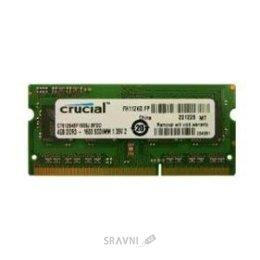 Модуль памяти для ПК и ноутбука Crucial 4GB SO-DIMM DDR3L 1600MHz (CT51264BF160BJ)