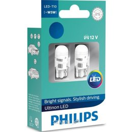 Автолампу Philips T10(W5W) Ultinon 12V 4000K 11961ULW4X2