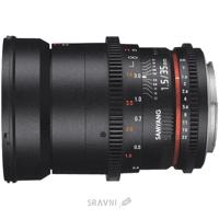 Фото Samyang 35mm T1.5 ED AS UMC VDSLR II Canon EF