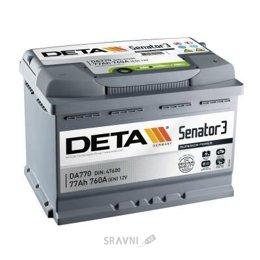 Аккумуляторную батарею DETA 6СТ-77 АзЕ Senator 3 (DA770)