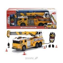 Машинку. Железную дорогу. Паровозик детский Dickie Toys Машина с подъемным краном на д/у (3729003)