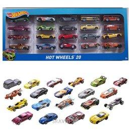 Машинку. Железную дорогу. Паровозик детский Hot Wheels Подарочный набор из 20 машинок (H7045)