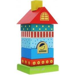 Игрушку для младенцев Alatoys Пирамидка Домик (ПДМ01)
