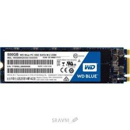 Жесткий диск, SSD-Накопитель Western Digital SSD Blue M.2 500GB (WDS500G1B0B)