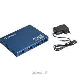 Картридер, USB-hub Defender Septima Slim (83505)