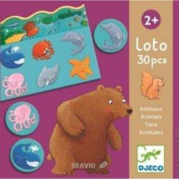 Настольную игру и головоломку Djeco Лото Животные (DJ08120)