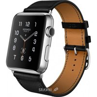 Фото Apple Watch Hermes 38mm Stainless Steel Case Single Tour Fauve Barenia Leather Band (MLCN2)