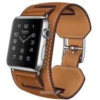 Фото Apple Watch Hermes 42mm Stainless Steel Case with Cuff Fauve Barenia Leather Band (MLCE2)