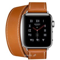 Смарт-часы, фитнес-браслет Apple Watch Series 3 Hermes (GPS) 38mm Stainless Steel Case with Fauve Barenia Leather Double Tour