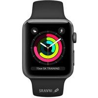 Смарт-часы, фитнес-браслет Apple Watch Series 3 GPS 38mm (MTF02)