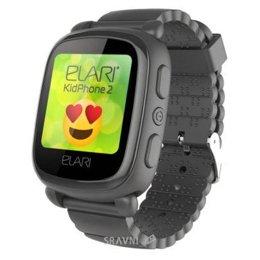 Умные часы, браслет спортивный Elari KidPhone 2 Black с GPS-трекером (KP-2B)