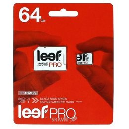 Flash Память (флешку, карту Памяти, SD, MiniSD, MiсroSD) Leef microSDXC Class 10 UHS-I U1 + SD adapter 64Gb