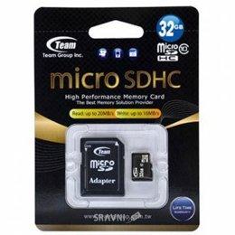 Flash Память (флешку, карту Памяти, SD, MiniSD, MiсroSD) TEAM TUSDH32GCL1003